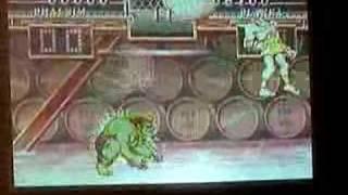 Street Fighter II Turbo Hack Barrel Bonus Stage