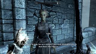 Skyrim Special Edition - First Lessons: Faralda's Test Cast Mage Light Gameplay Sequence PS4 Pro