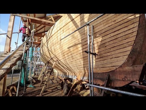 17. Massive New Pilot Cutter Build / Ferry Planks - Rebuilding Tally Ho EP17