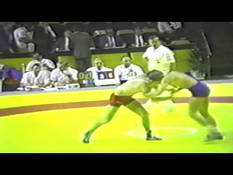 1990 Senior Greco World Championships: 74 kg Gordy Morgan (USA) vs. Unknown