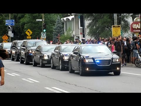 Canadian PM Justin Trudeau And His Motorcade Attending The MTL Pride Parade in Montréal, QC.