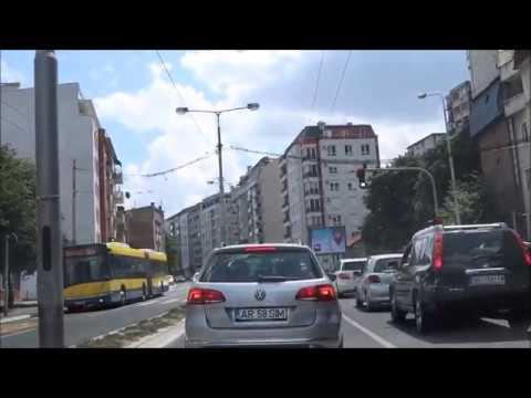 Город Белград. Сербия. Поездка по городу