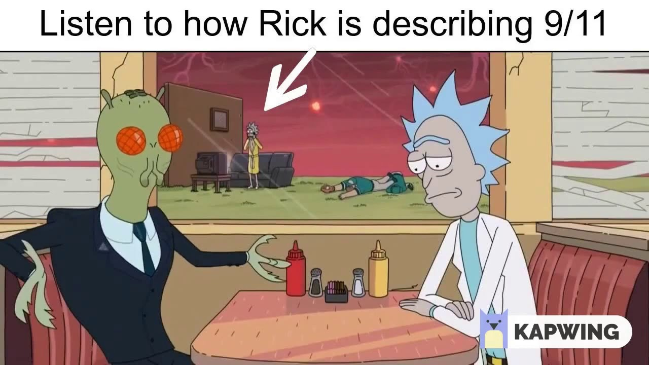 Rick & Morty - Hidden 9|11 reference to government conspiracy