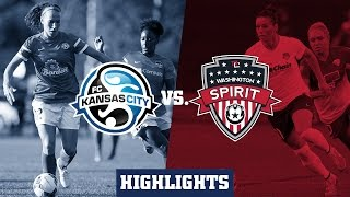 FC Kansas City vs Washington Spirit: Highlights - Aug. 27, 2015