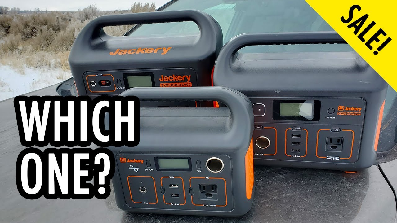 Jackery Sale! Which Size Portable Power Station Do You Need?