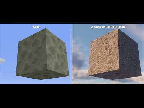 MINECRAFT 2019 Stratum 2048x Continuum Shader Real Life Graphics Ray  Tracing 4K