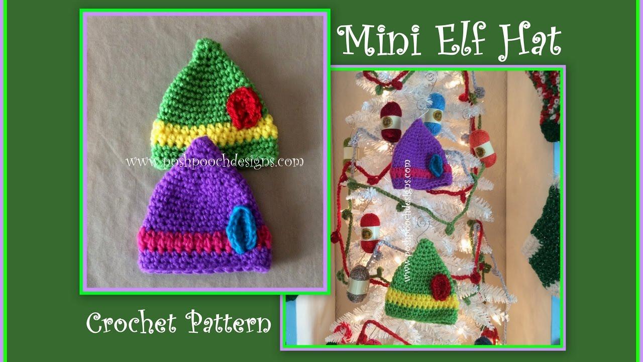 Mini Elf Hat Crochet Pattern Youtube