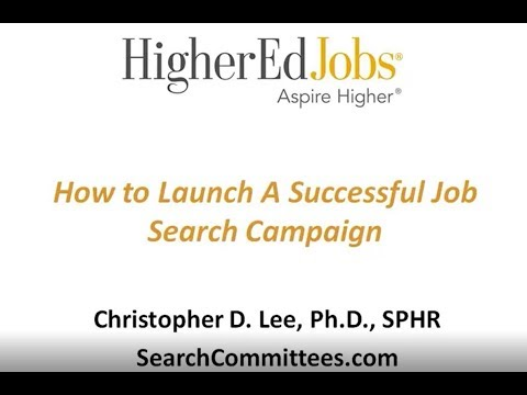 Webcast: How to Launch A Successful Job Search