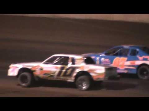 IMCA Stockcar feature Shawano Speedway Shawano Wisconsin 4/30/16