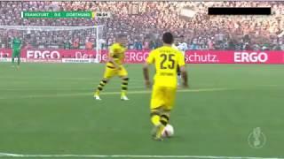 but d'Ousmane Dembélé contre Francfort en finale de coupe d'Allemagne