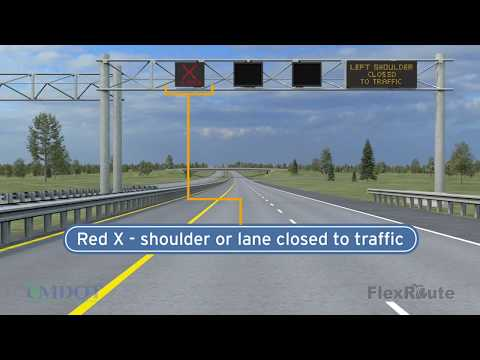 Why you can't drive in the U S  23 Flex Route lane 24 hours