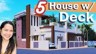 5 Beautiful House Plans With Roof Deck - Part 1