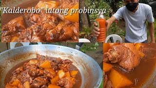 Kalderobong manok sa pinakurat na suka  Lutong probinsya  Batangas style