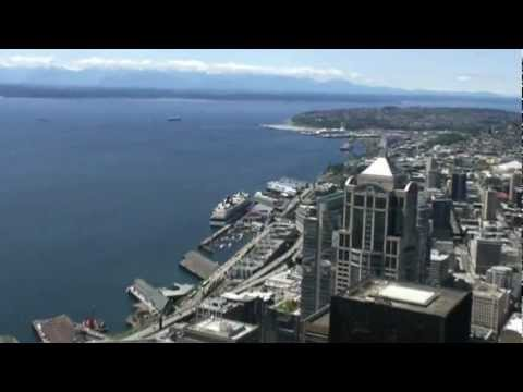 In the top of the Columbia Tower, Seattle