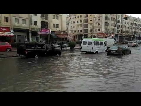 Le boulevard Al Qods inondé à Casablanca