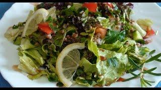 Салат диетический с гречкой