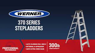 Werner Ladder - 370 Series Aluminum Step Ladders