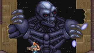Contra 3 (SNES) Boss 03 Terminator (Hard, No Damage & Power Ups)