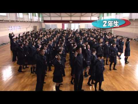 全校で「恋するフォーチュンクッキー」踊ってみました 日本航空高校山梨キャンパス