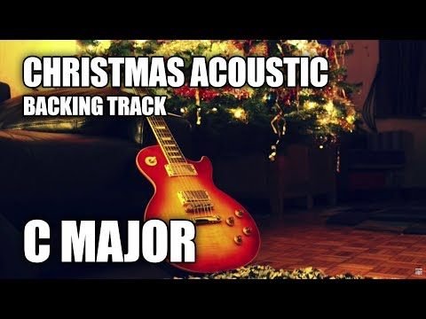 Christmas Acoustic Pop Guitar Backing Track In C Major