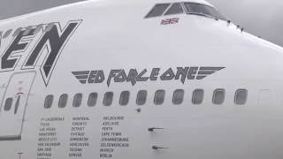 Video Iron Maiden's Ed Force One Rocks Boeing 747 download MP3, 3GP, MP4, WEBM, AVI, FLV Juni 2018