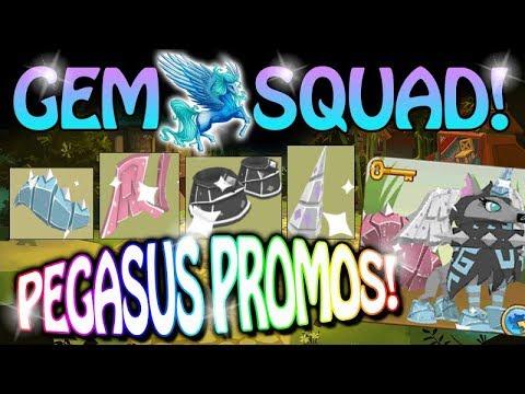 Animal Jam Gem Squad - Crystal Pegasus Promo Armor Set! OMG!