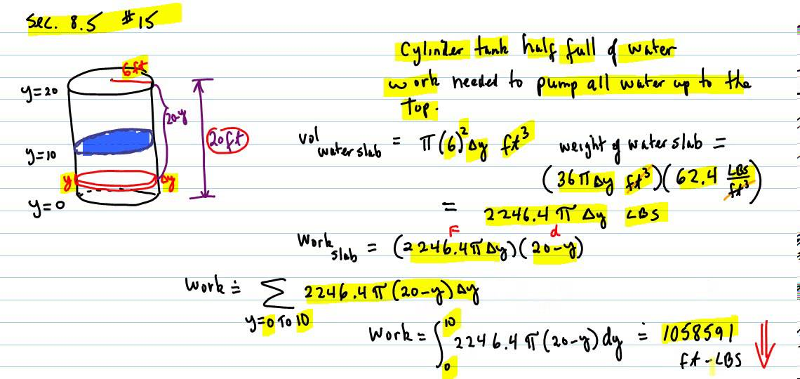 Work pump water out of cylindrical tank youtube - The volume of water in a swimming pool ...