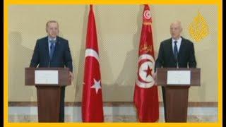 🇹🇳 🇹🇷 مؤتمر صحفي للرئيسين التركي رجب طيب #أردوغان والتونسي قيس سعيد في #تونس