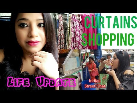 Indian Mom Life update (3) || Curtains Shopping In Delhi || Enjoying Indian Street Food