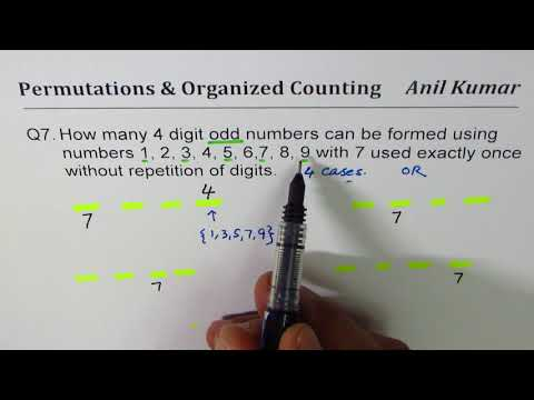Q7 How many odd numbers can be formed with exactly one 7 and without repetition