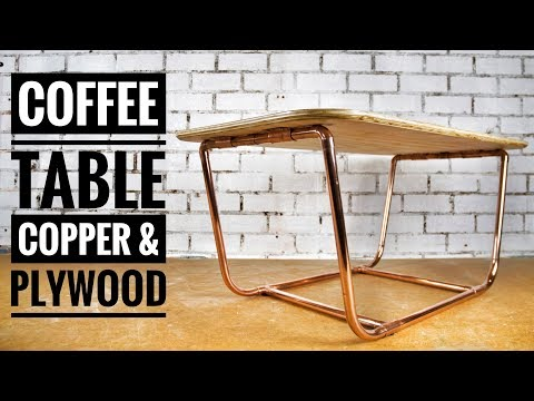 DIY Coffee Table With Copper Pipe legs & Plywood Top