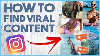 😵 HOW TO FIND VIRAL CONTENT TO GROW ON INSTAGRAM & - CRASH COURSE LESSON 4 😵