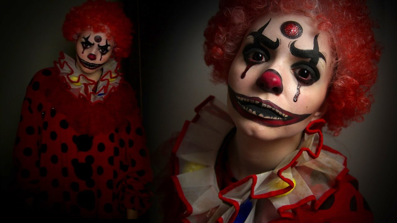 horror clown makeup tutorial spooktober youtube. Black Bedroom Furniture Sets. Home Design Ideas