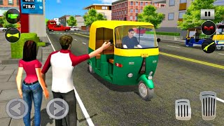Tuk Tuk Rickshaw Driving Simulator - City Mountain Auto Driver - Android Gameplay screenshot 1