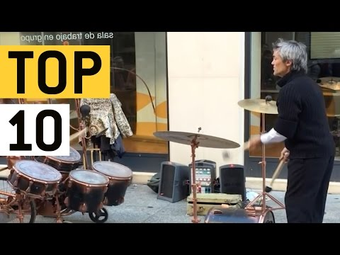 Top 10 Talented Street Artists || JukinVideo Top Ten