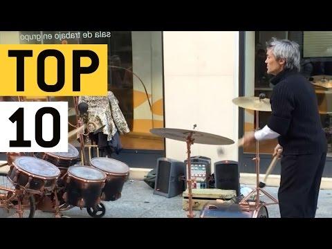 Top 10 Talented Street Artists || JukinVideo Top Ten