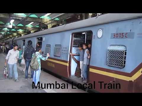 Mumbai local train at vashi railway station Navi mumbai