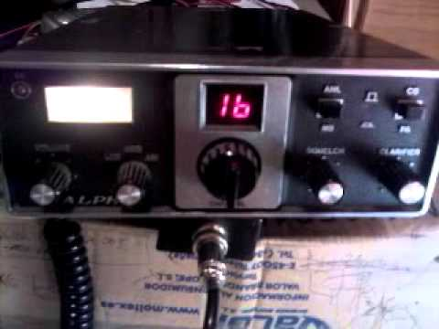 very old vintage ALPHA W65 am/ssb cb made in Japan