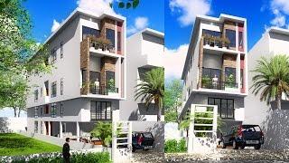 Video Sketchup 4 story Narrow House design 4.4x20m download MP3, 3GP, MP4, WEBM, AVI, FLV Desember 2017
