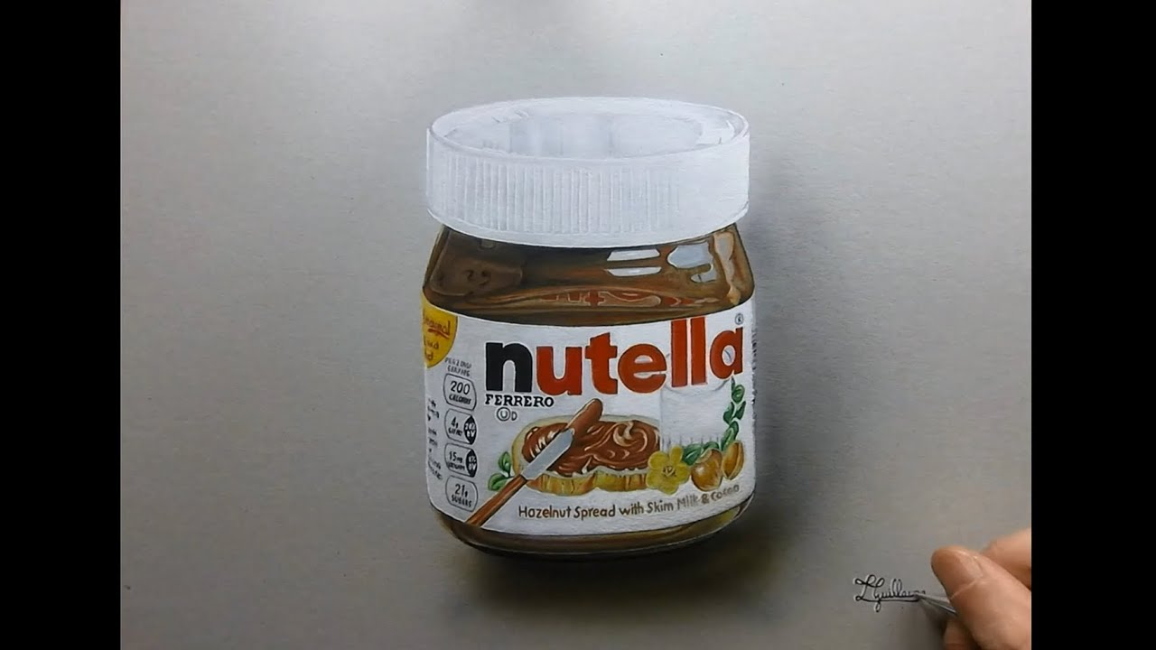 Dessin Time Lapse Hyperrealistic Art How To Draw Nutella