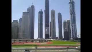 88 tallest buildings in Dubai  (United Arab Emirates) Sightseeing by Metro train !