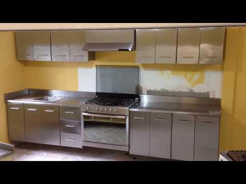 Cocina acero inoxidable by cocinas industriales sthal - Laminas de acero inoxidable para cocinas ...