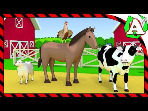Домашние животные на ферме и их детеныши для детей. Мультик для детей развивающий мультик