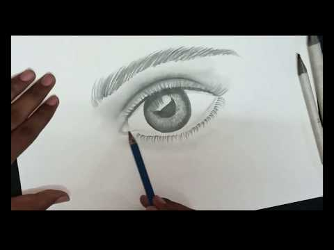 How to Draw a Realistic Eye Sketch  | Step by Step Drawing Tutorial thumbnail