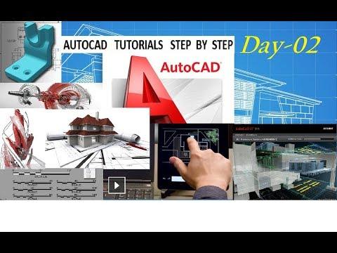 Day-02 Autocad Tutorial step by step...  Hindi   English   Urdu  