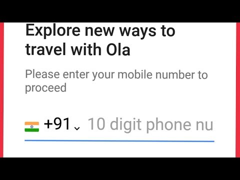 How To Create Ola Cabs Account In Android