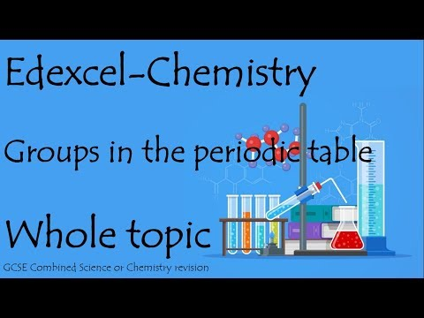 The whole of GROUPS IN THE PERIODIC TABLE.  Edexcel 9-1 GCSE Chemistry combined science for paper