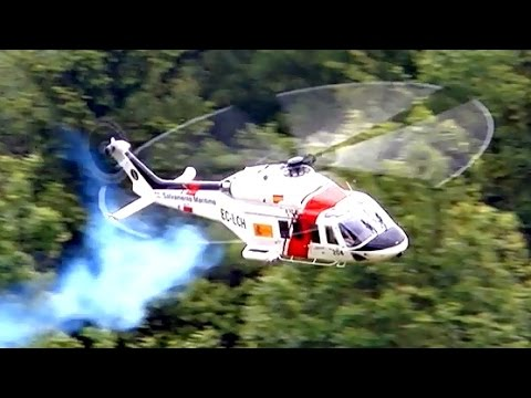 TURBINE EXPLOSION AW-139 BIG SCALE RC MODEL TURBINE HELICOPTER / Pöting Turbine Meeting 2015