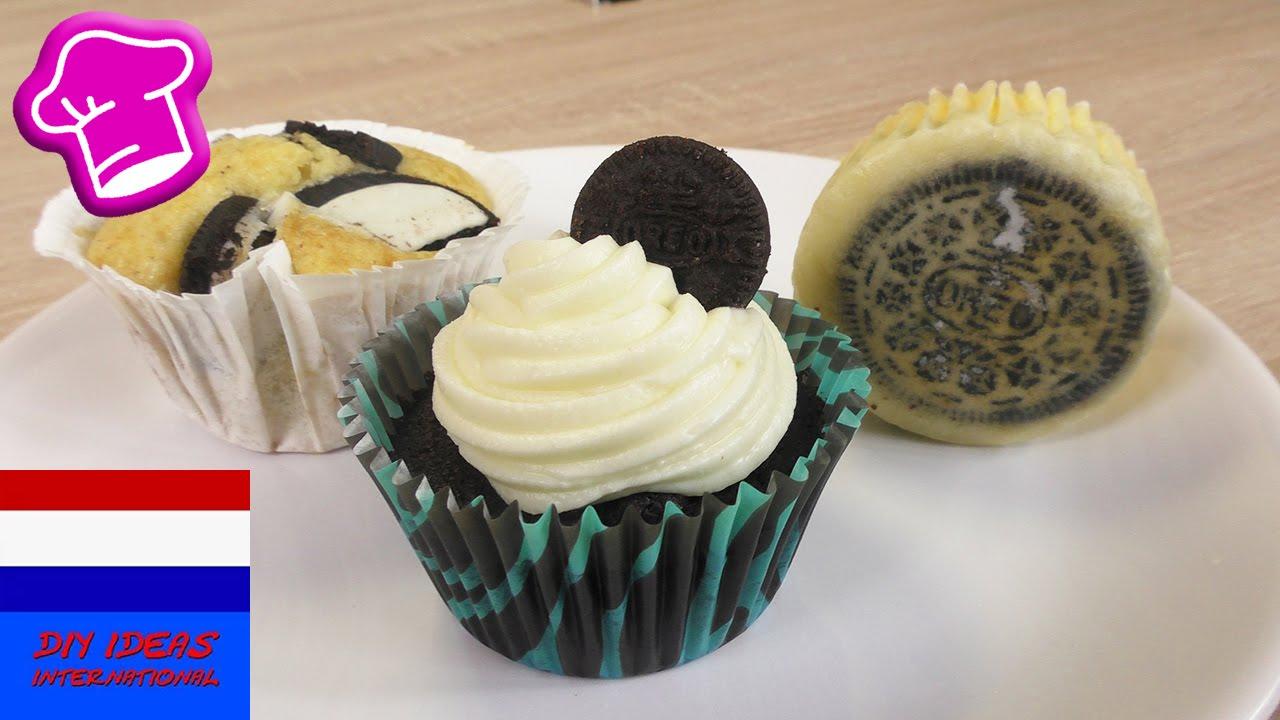 Oreo Cupcakes Muffins Drie Ideeën Met Oreo Koekjes Cheesecake
