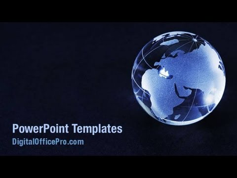 crystal world globe powerpoint template backgrounds, Powerpoint templates
